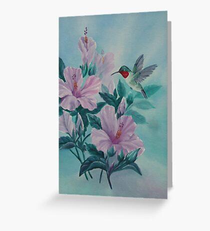 HUMMINGBIRD ORIGINAL OIL Greeting Card