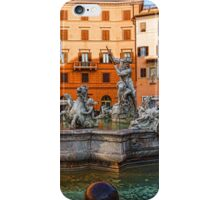 Neptune Fountain on Piazza Navona - Impressions Of Rome iPhone Case/Skin