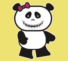 Cute Panda Skull Kids Clothes