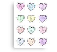 """Hate Hearts"" Design  Canvas Print"