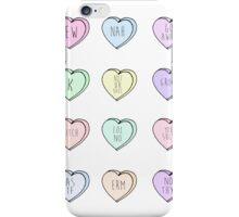 """Hate Hearts"" Design  iPhone Case/Skin"