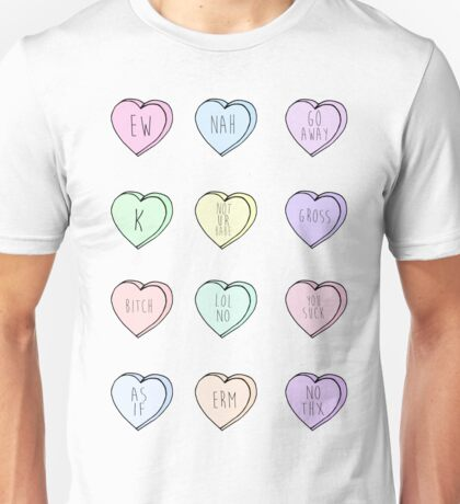 """Hate Hearts"" Design  Unisex T-Shirt"