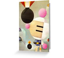 Bomberman remixed Greeting Card
