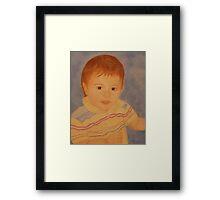 JOHN ORIGINAL OIL PAINTING Framed Print