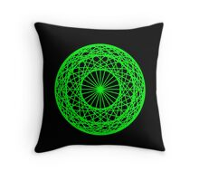 Caledo Green Sphere Throw Pillow