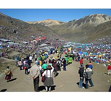 Qollyoritti fiesta in Ausangate mountain, Peru Photographic Print
