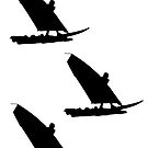 Silhouette Windsurf - 3 stickers by ilmagatPSCS2