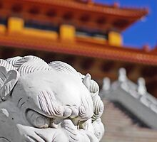 Nan Tien Buddhist Temple - Lion by Vanessa Pike-Russell