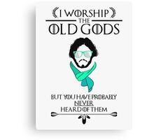 Hipster Jon Snow - Game of Thrones T-Shirt Canvas Print