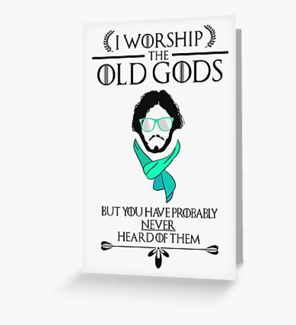 Hipster Jon Snow - Game of Thrones T-Shirt Greeting Card