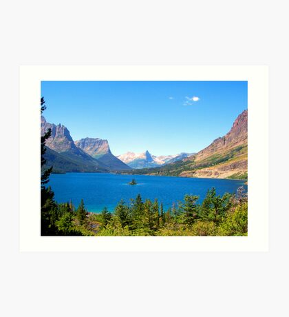 Glacier Park Lake View Art Print