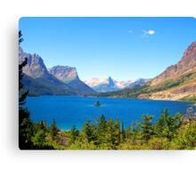 Glacier Park Lake View Canvas Print