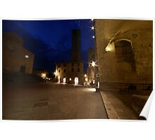 San Giminignano Italy at night #2 Poster