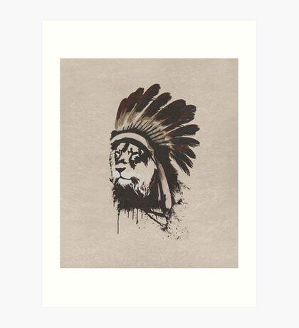 Lion Headdress Art Print