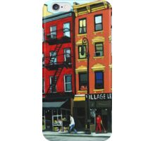 The Village Leather - N.Y.C. oil painting iPhone Case/Skin