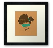 love high Framed Print