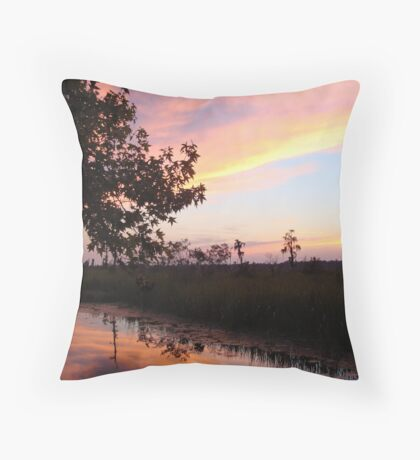 BANNERS OF LEMON LIGHT - SUNSET ON ECONFINA CREEK Throw Pillow