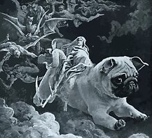 Death Rides a Pale Pug by darklordpug