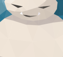 Snorlax Low Poly Sticker
