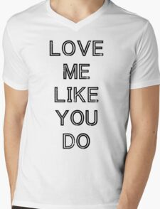 LOVE ME LIKE YOU DO (BLACK) Mens V-Neck T-Shirt