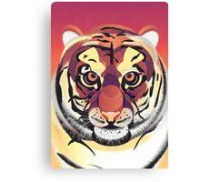 Digital Tiger Illustration Canvas Print