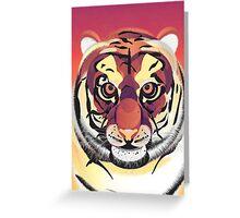 Digital Tiger Illustration Greeting Card