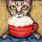 Abyssinian With Coffee by Jamie Wogan Edwards