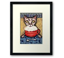 Abyssinian With Coffee Framed Print