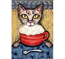 Abyssinian With Coffee Photographic Print
