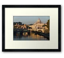 St Peter's Morning Glow - Impressions Of Rome Framed Print