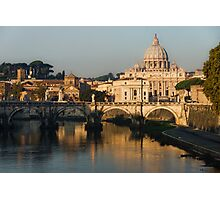 St Peter's Morning Glow - Impressions Of Rome Photographic Print