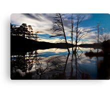 Loch Garten - Edge Of Night Canvas Print