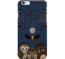 Owls Family Flying iPhone Case/Skin