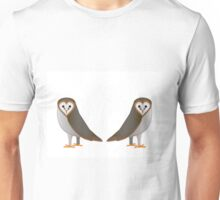 Owl Illustration Art Print Birds Unisex T-Shirt