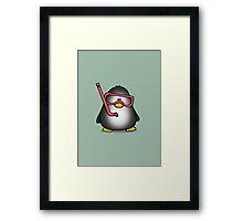 Snorkelling Penguin Framed Print