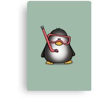 Snorkelling Penguin Canvas Print