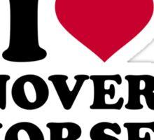 I love Hanoverian horses Sticker