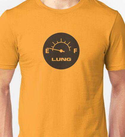 Lung Capacity Fuel Gauge Unisex T-Shirt