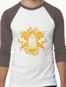 Buddha with Dragons Men's Baseball ¾ T-Shirt