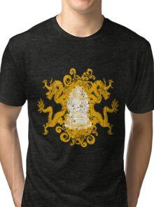 Buddha with Dragons Tri-blend T-Shirt