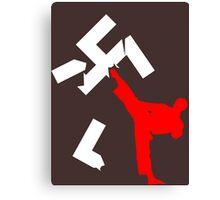 kick racism Canvas Print