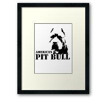 american pit bull Framed Print