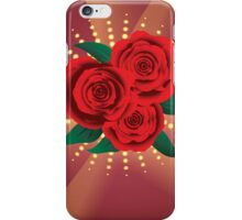 Card with red roses 2 iPhone Case/Skin