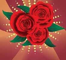 Card with red roses 2 by AnnArtshock