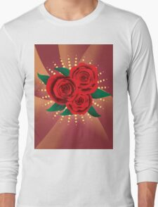 Card with red roses 2 Long Sleeve T-Shirt