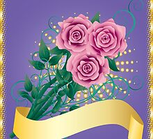 Card with pink roses 2 by AnnArtshock