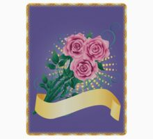 Card with pink roses 2 Kids Clothes