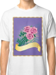 Card with pink roses 2 Classic T-Shirt