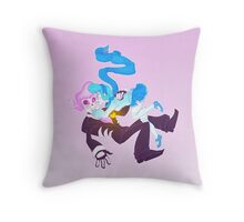 Mystery Skulls Ghost - Lewis and Vivi Throw Pillow