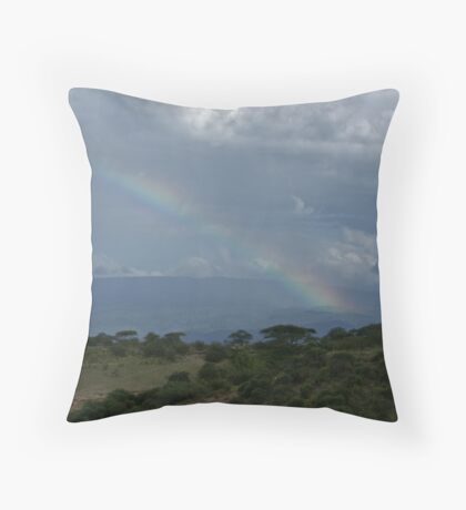 Olduvai Rainbow Throw Pillow
